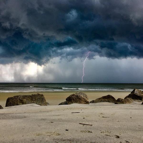 Beach Storm Rain