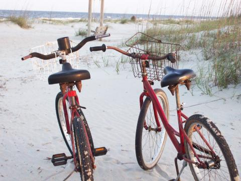 tybee island beach bike sand