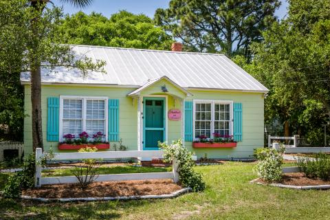 Tybee Island colorful cottage