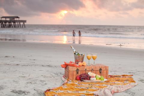 Tybee Island beach picnic