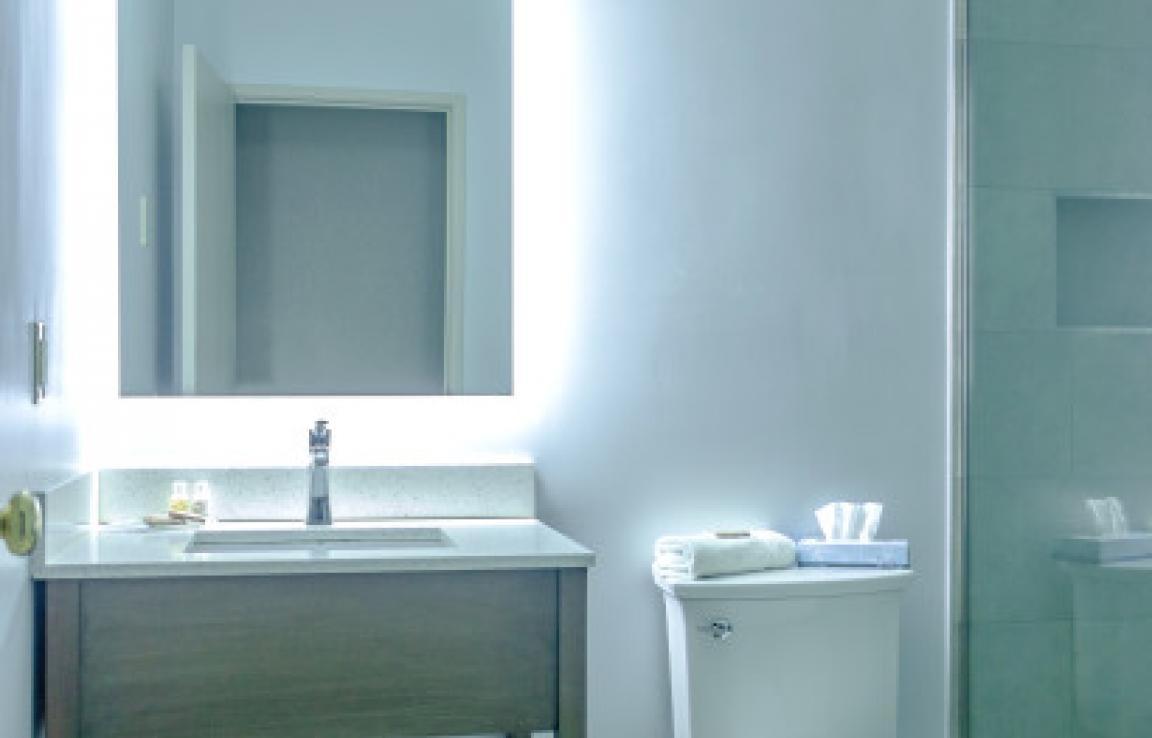 Bathroom vanity & LED mirror