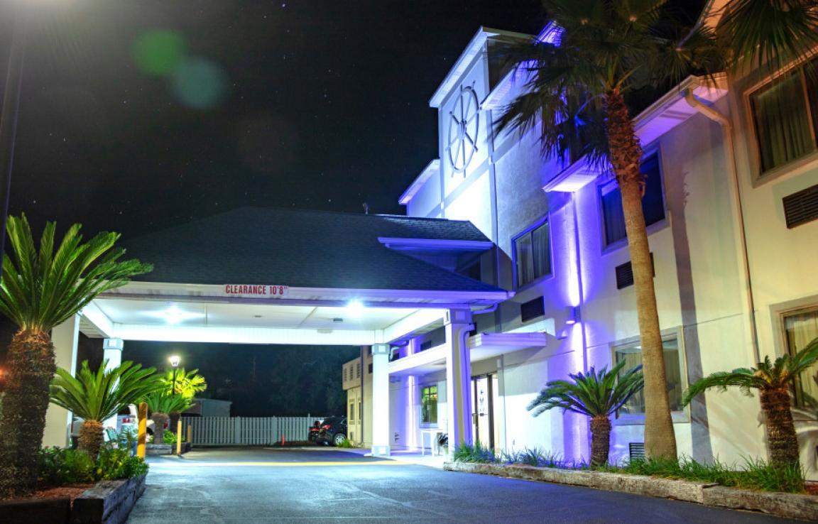 Front Entrance Side Blue Light