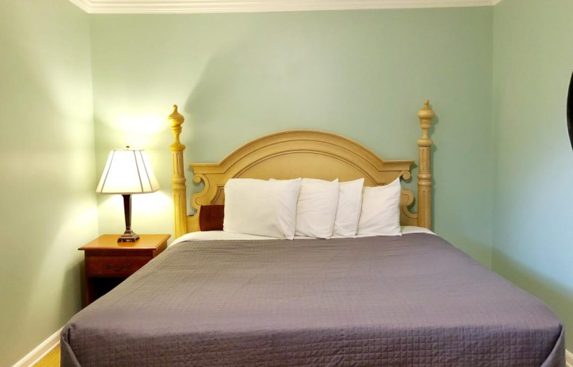 King Bed - Every room here is different but this is one of our King size beds which look similar for the most part
